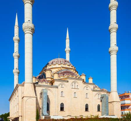 Merkez Kulliye Cami or Manavgat Central Mosque is the largest mosque in Antalya region in Turkey Фото со стока