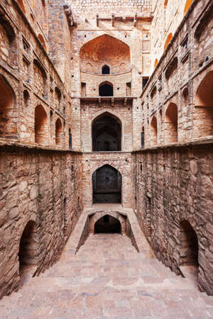 Agrasen ki Baoli or Ugrasen ki Baodi is a historical step well near Connaught Place in New Delhi, India Фото со стока