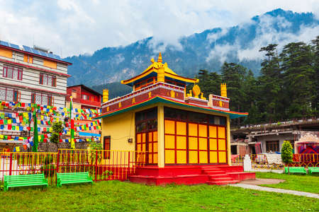 Buddhist Monastery and Temple in Manali town, Himachal Pradesh state of India Фото со стока