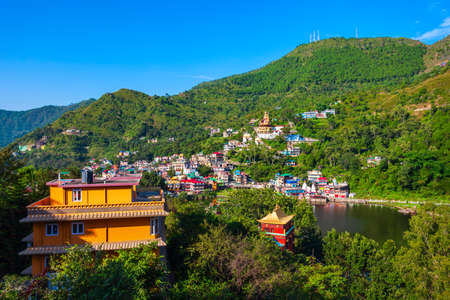 Rewalsar or Tso Pema is a small town, lake and buddhist pilgrimage place near Mandi, Himachal Pradesh state in India