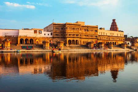 Krishna Temple at the Keshi Ghat on Yamuna river in Vrindavan near Mathura city in Uttar Pradesh state of India