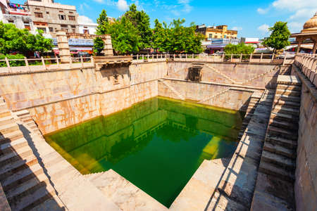 Ancient stepwell in Bundi town in Rajasthan state in India