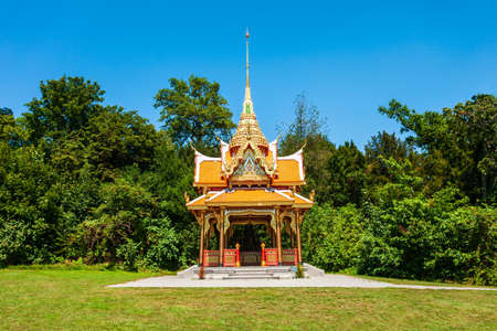 Thai Pavilion or Pavillon Thailandais is a buddhist pagoda temple in Thailand style located in Lausanne city in Switzerland