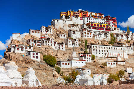 Thikse Gompa or Thiksey Monastery is a tibetan buddhist monastery in Thiksey near Leh in Ladakh, north India
