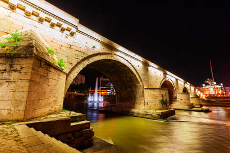 The Stone Bridge is a bridge across the Vardar River in the centre of Skopje city, North Macedonia.