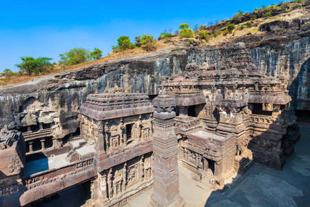 The Kailasa or Kailash Temple is the largest rock cut Hindu temple at the Ellora Caves in Maharashtra, India