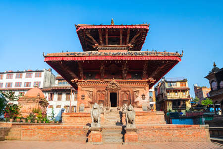 Hindu temple at the Patan Durbar Square in Lalitpur or historically Patan city near in Kathmandu in Nepal