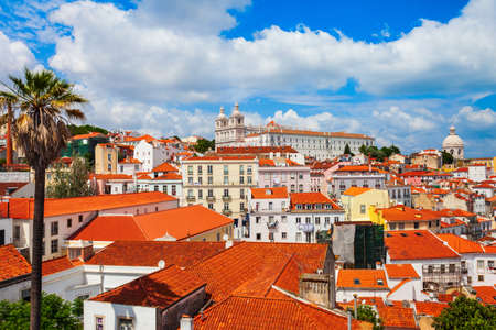 Lisbon cityscape aerial panoramic view. Lisbon or Lisboa is the capital and the largest city of Portugal. 版權商用圖片