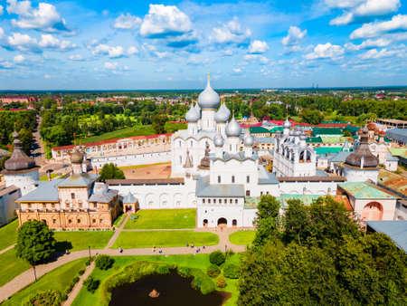 Rostov Kremlin aerial panoramic view in Rostov Veliky or Rostov the Great in Yaroslavl Oblast, Russia Stockfoto