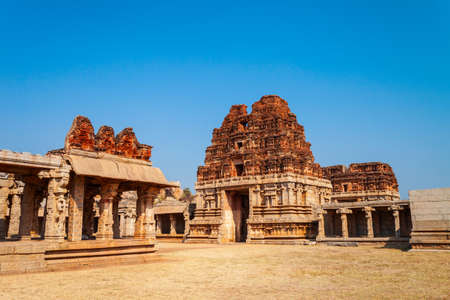 The Group of Monuments at Hampi was the centre of the Hindu Vijayanagara Empire in Karnataka state in India 新聞圖片