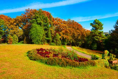 Sochi Arboretum park is a unique collection of subtropical flora and fauna in Sochi resort city in Krasnodar Krai, Russia