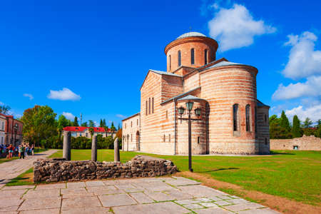 Pitsunda Cathedral or St. Andrew the Apostle Cathedral is a Georgian Orthodox Cathedral in Pitsunda, Gagra district of Abkhazia in Georgia. Standard-Bild