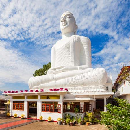 Bahirawa Kanda or Bahirawakanda Vihara Buddha Statue in Kandy, Sri Lanka. Bahirawakanda is a giant samadhi buddha statue on the top of the mountain in Kandy. Stock Photo