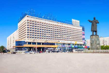NIZHNY NOVGOROD, RUSSIA - JUNE 29, 2016: Marins Park Hotel on the Lenin square in Nizhny Novgorod, Russia.