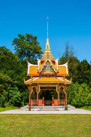 Thai Pavilion or Pavilion Thailandais is a buddhist pagoda temple in Thailand style located in Lausanne city in Switzerland