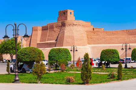 Kunya Ark means old fortress is a citadel inside the Ichan Kala ancient town in Khiva, Uzbekistan Stock Photo