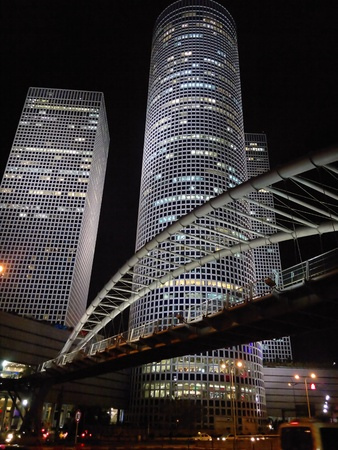 attractive tower at night