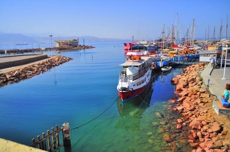 views of the sea transport in Eilat 版權商用圖片 - 18978352