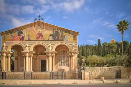 synagogues: Temple with columns in Jerusalem
