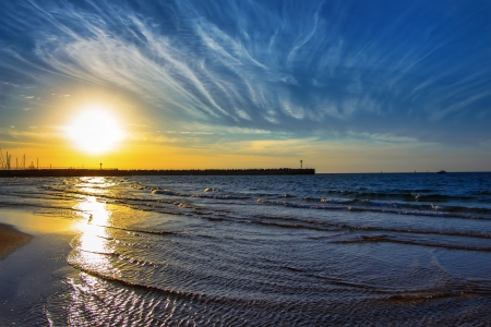 seascape near the marina in Israel, Ashdod