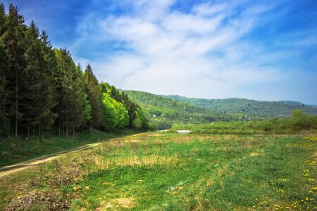 locality: locality in foothills the Carpathian Mountains Stock Photo
