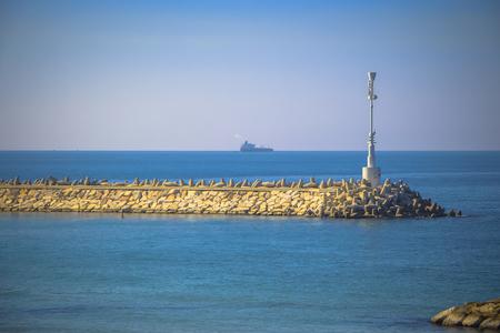 Lighthouse in Ashkelon afar photo