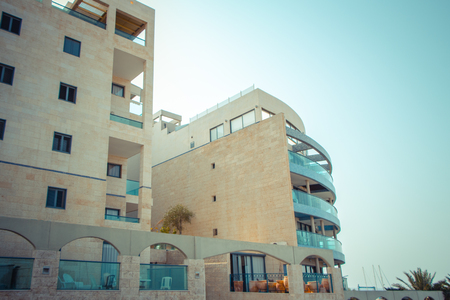 Coastal apartments in Israel. Ashkelon Stock Photo - 23388241