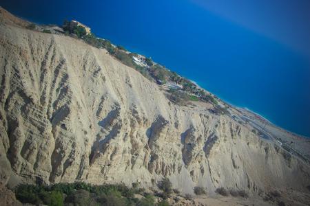 gedi: Photo of Dead Sea from Mount Ein Gedi Stock Photo