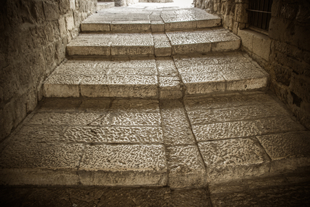 the old steps of the ancient city