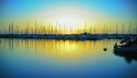 photo sunset on the marina in Ashkelon