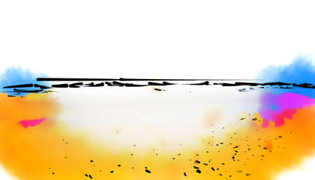 illustration of sea beach