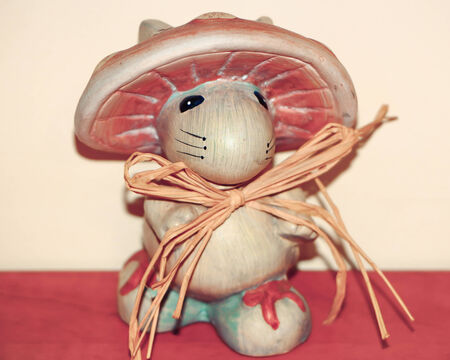 spore: souvenir. mouse with the fungus on the head Stock Photo