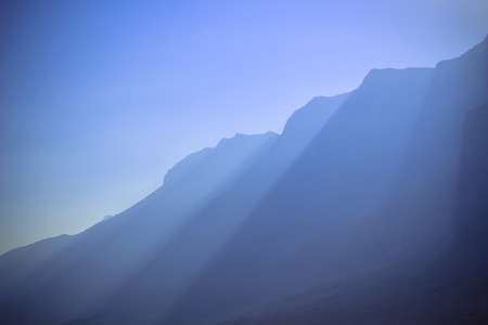 Gods sunbeam above the jordan dead sea