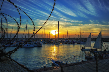 evening Yacht Club in Ashdod