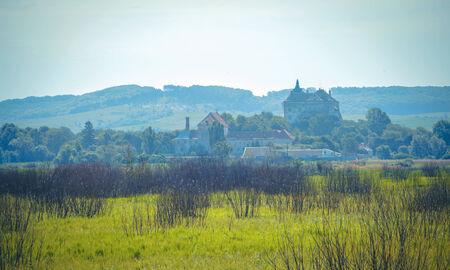 landscape terrain far from Olesko castle building of the XIV century Near Lvov, Ukraine Stock Photo