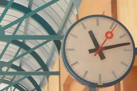 railway station: Clock at the railway station - Stock photo