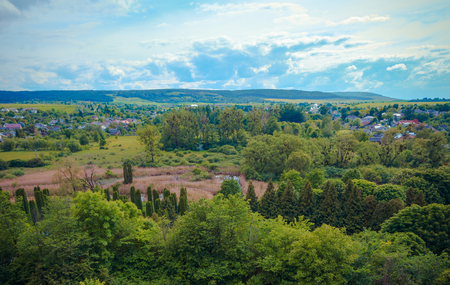 vicinity: Scenic photography Western Ukrainian countryside in the vicinity of Olesko Castle