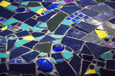 Multi-colored pieces of the correct form of tiles. Architectural decoration. 版權商用圖片