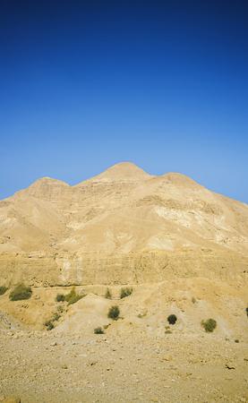 Mount at Ein Gedi in Israel. Dead Sea.