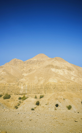 Mount at Ein Gedi in Israel. Dead Sea.
