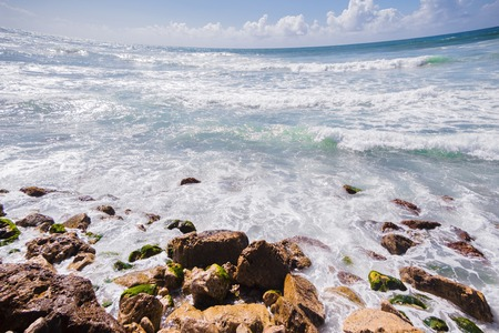 Seascape with severe distortion in the Mediterranean