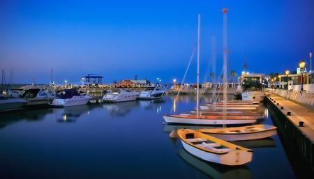 marina with yachts and boats in Israel. Ashkelon.