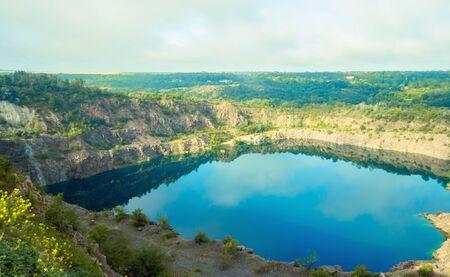 Radon Lake in Migiya Ukraine. Nikolaevkskaya area. 版權商用圖片
