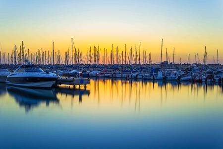 photo sunset on the marina in Ashkelon