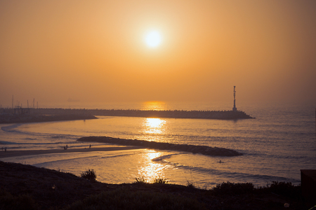 Lighthouse in Ashkelon. Evening shot