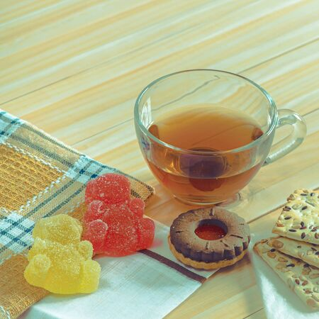 Tea drink and some dessert. Stock PHOTO. 版權商用圖片