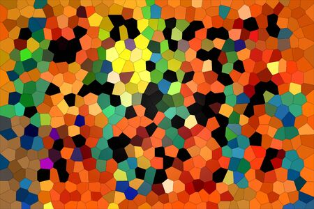 A variety of multi-colored rhombuses creating a composition in a modern style.