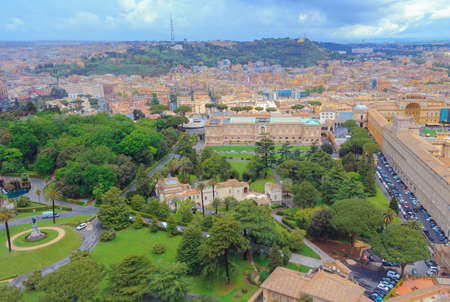 Panoramic view of the beauty of Rome