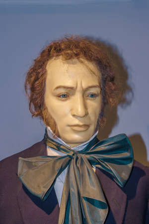 A.S. PUSHKIN. Wax figure. Portrait. U Baby Uti Wax Museum.