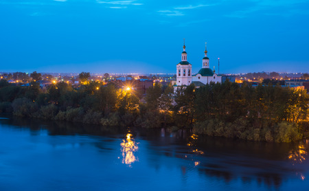 beautiful, beauty, bell tower, calm, cathedral, christianity, church, city, dome, faith, holy, landscape, mirror, nature, orthodox, orthodoxy, peace, prayer, province, provincial, quiet, reflection, religion, river, round , rus, russia, russian, season, s